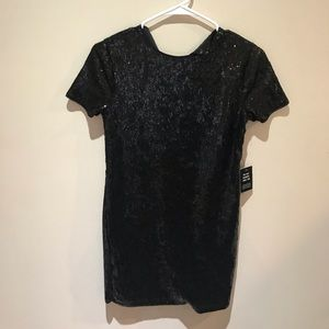 Express Black Sequin Mini Dress
